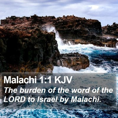 Malachi 1:1 KJV Bible Verse Image