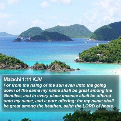 Malachi 1:11 KJV Bible Verse Image