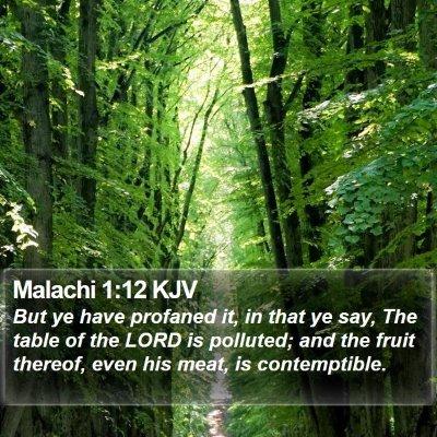 Malachi 1:12 KJV Bible Verse Image