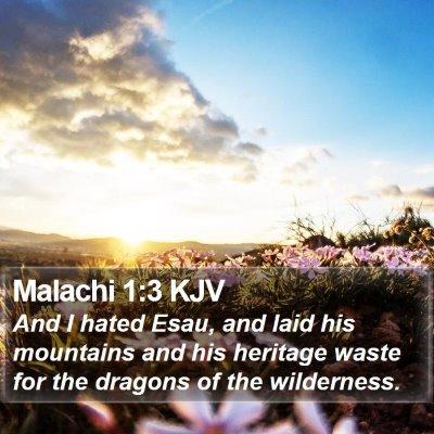 Malachi 1:3 KJV Bible Verse Image