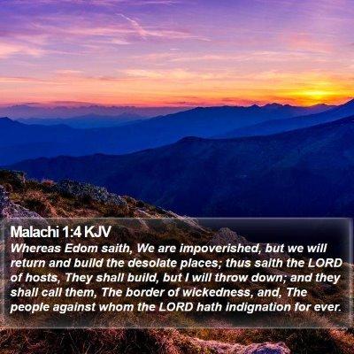 Malachi 1:4 KJV Bible Verse Image