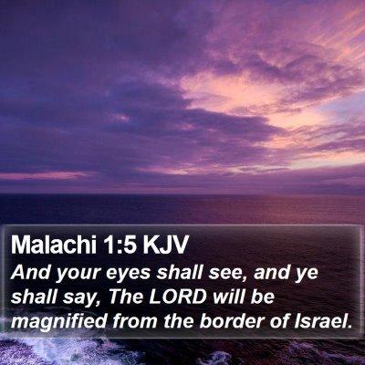 Malachi 1:5 KJV Bible Verse Image