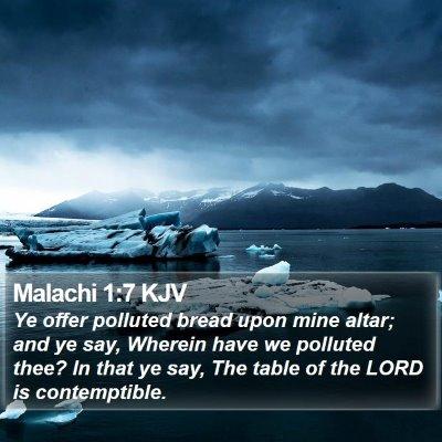 Malachi 1:7 KJV Bible Verse Image