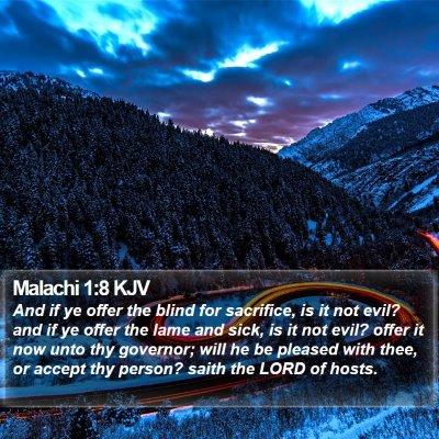 Malachi 1:8 KJV Bible Verse Image