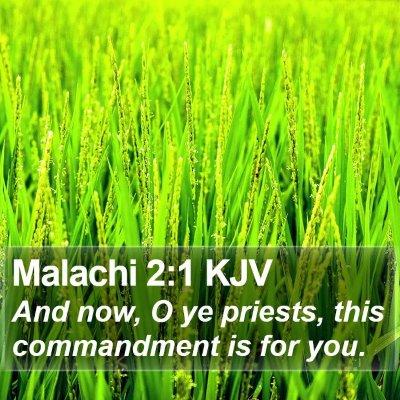 Malachi 2:1 KJV Bible Verse Image