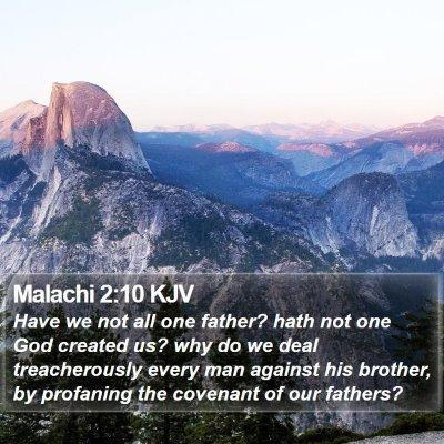 Malachi 2:10 KJV Bible Verse Image