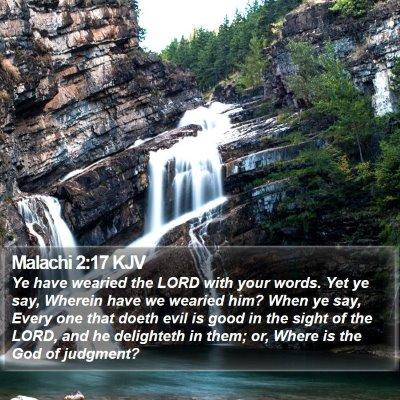 Malachi 2:17 KJV Bible Verse Image
