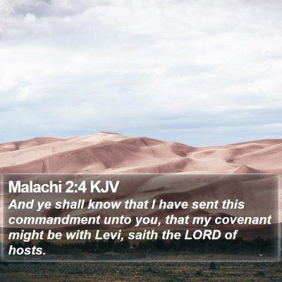 Malachi 2:4 KJV Bible Verse Image