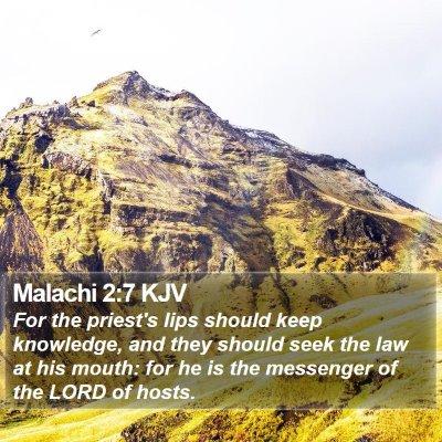 Malachi 2:7 KJV Bible Verse Image