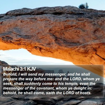 Malachi 3:1 KJV Bible Verse Image