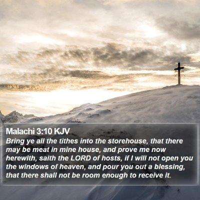Malachi 3:10 KJV Bible Verse Image