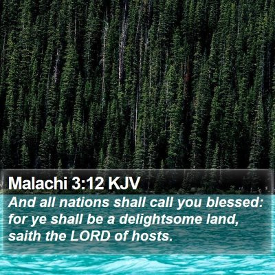 Malachi 3:12 KJV Bible Verse Image