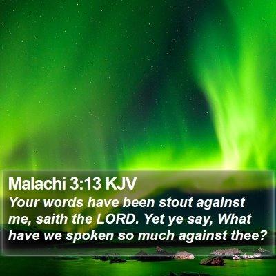 Malachi 3:13 KJV Bible Verse Image