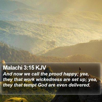Malachi 3:15 KJV Bible Verse Image