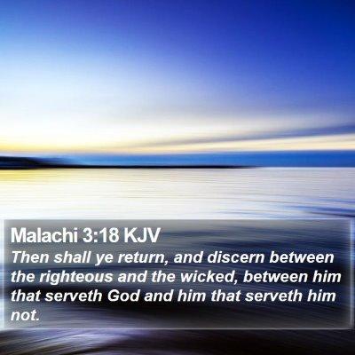 Malachi 3:18 KJV Bible Verse Image