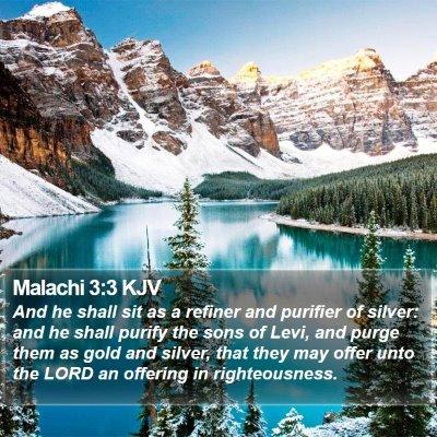 Malachi 3:3 KJV Bible Verse Image