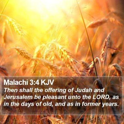 Malachi 3:4 KJV Bible Verse Image