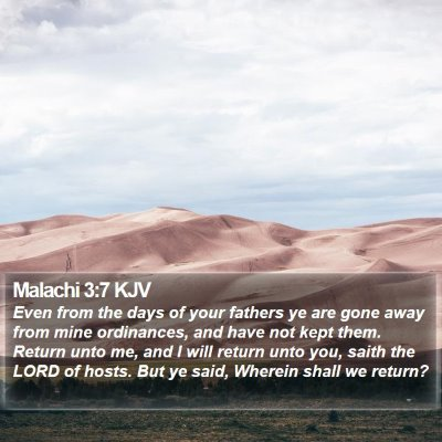 Malachi 3:7 KJV Bible Verse Image