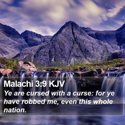 Malachi 3:9 KJV Bible Verse Image