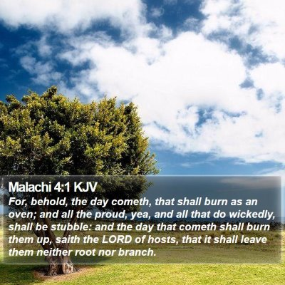 Malachi 4:1 KJV Bible Verse Image