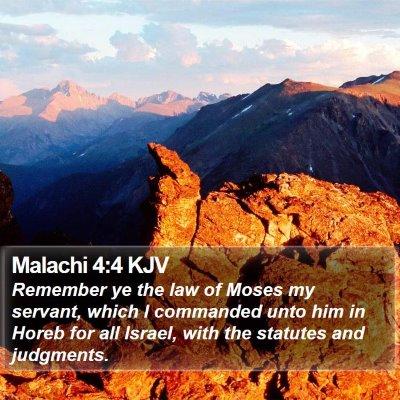Malachi 4:4 KJV Bible Verse Image