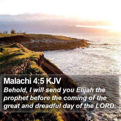 Malachi 4:5 KJV Bible Verse Image