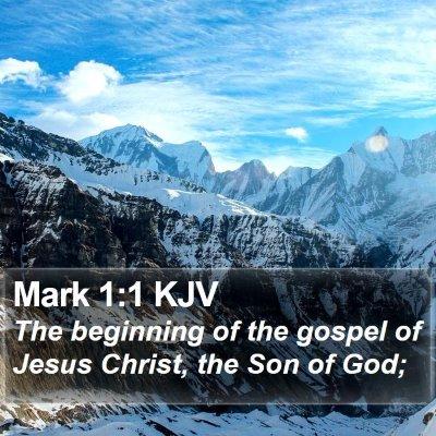 Mark 1:1 KJV Bible Verse Image