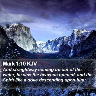 Mark 1:10 KJV Bible Verse Image