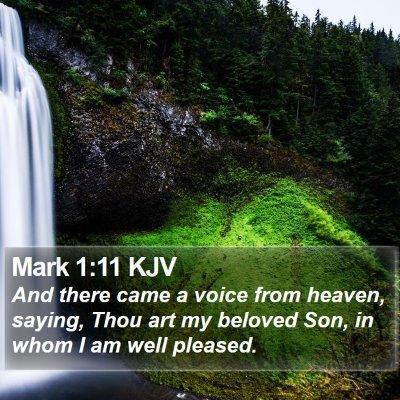 Mark 1:11 KJV Bible Verse Image
