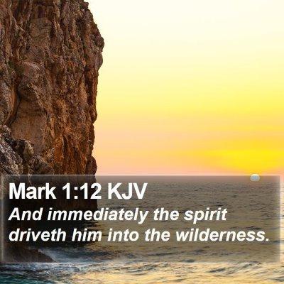 Mark 1:12 KJV Bible Verse Image