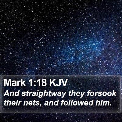 Mark 1:18 KJV Bible Verse Image