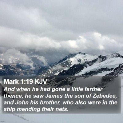 Mark 1:19 KJV Bible Verse Image