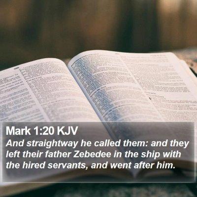 Mark 1:20 KJV Bible Verse Image