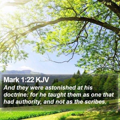 Mark 1:22 KJV Bible Verse Image
