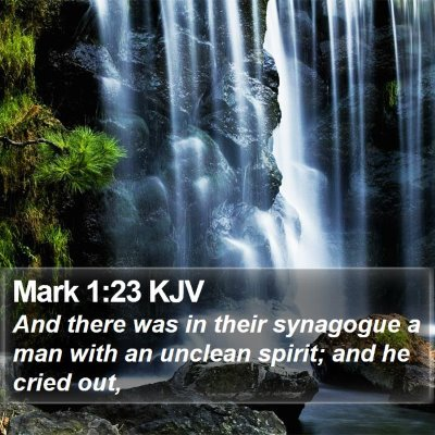 Mark 1:23 KJV Bible Verse Image
