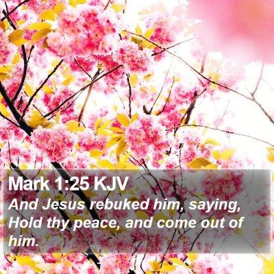 Mark 1:25 KJV Bible Verse Image