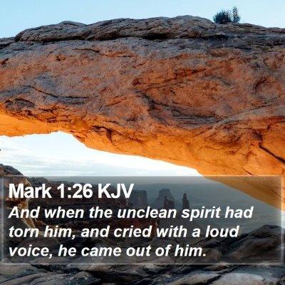 Mark 1:26 KJV Bible Verse Image