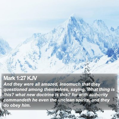 Mark 1:27 KJV Bible Verse Image