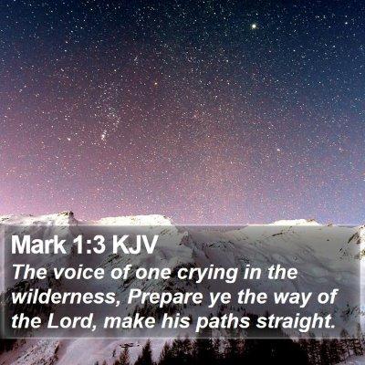 Mark 1:3 KJV Bible Verse Image