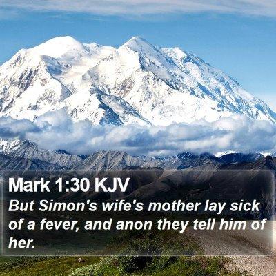 Mark 1:30 KJV Bible Verse Image