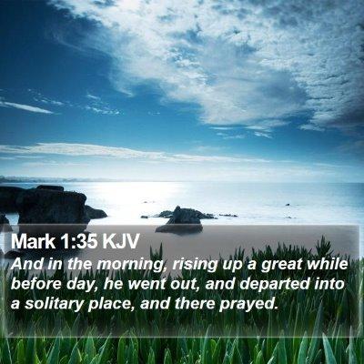 Mark 1:35 KJV Bible Verse Image