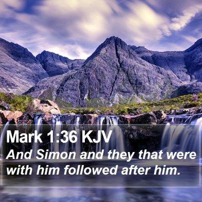 Mark 1:36 KJV Bible Verse Image