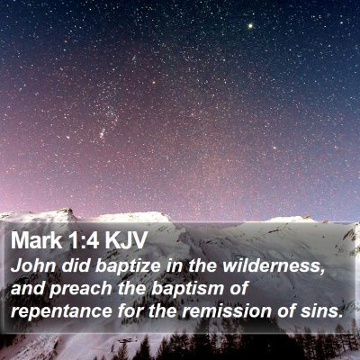 Mark 1:4 KJV Bible Verse Image