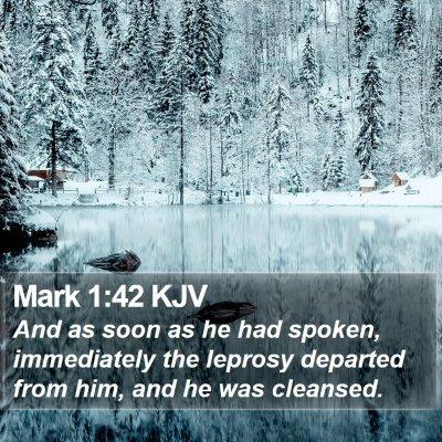 Mark 1:42 KJV Bible Verse Image