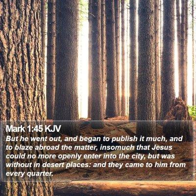 Mark 1:45 KJV Bible Verse Image