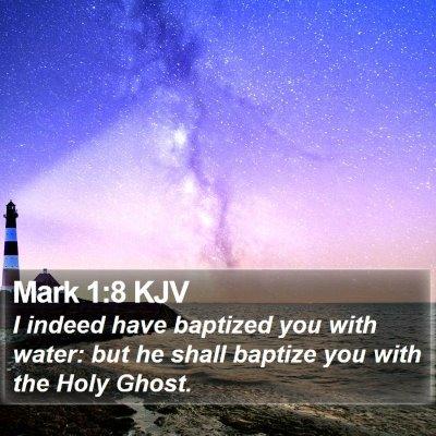 Mark 1:8 KJV Bible Verse Image