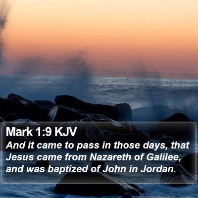 Mark 1:9 KJV Bible Verse Image
