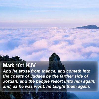 Mark 10:1 KJV Bible Verse Image