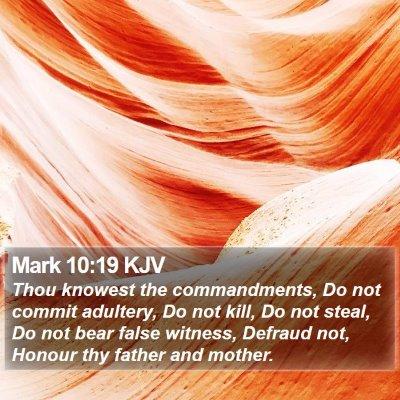 Mark 10:19 KJV Bible Verse Image