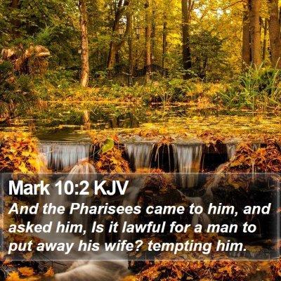 Mark 10:2 KJV Bible Verse Image
